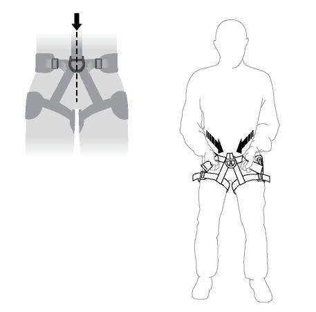 Настройка расположения передней точки крепления для привязей Petzl AVAO и ASTRO