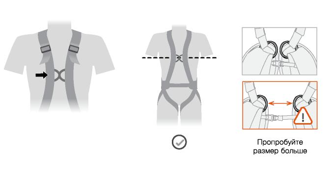 Расположение передней точки А на привязи VOLT