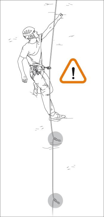 Соло-страховка с одним зажимом на веревке