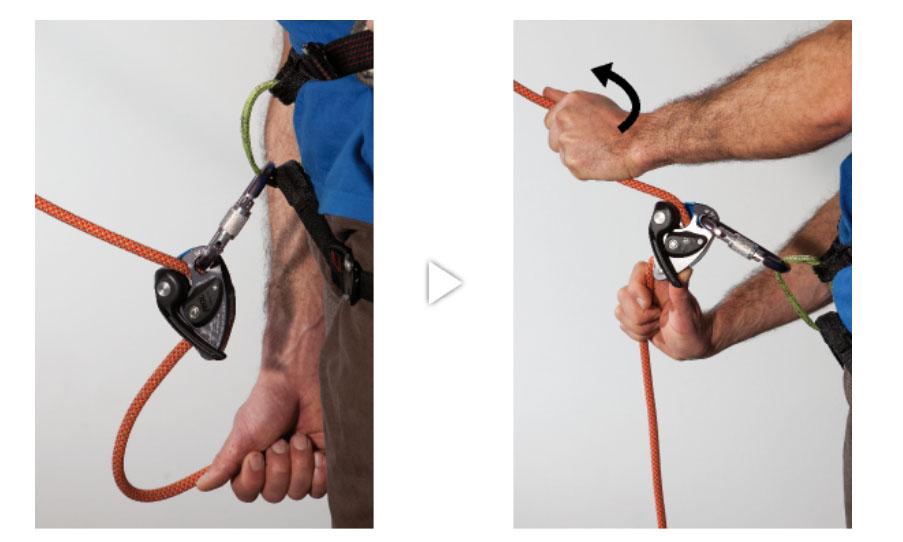 Веревка со стороны скалолаза не натянута: потяните за веревку со стороны скалолаза